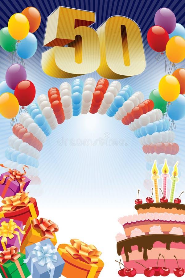 Femtionde födelsedagaffisch royaltyfri fotografi