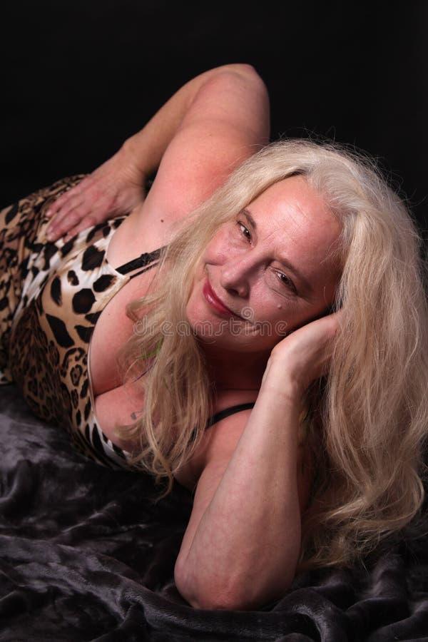 femtiotal henne kvinna royaltyfri bild