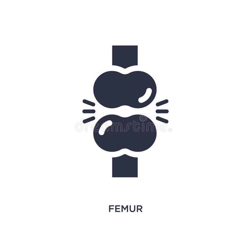 femur icon on white background. Simple element illustration from medical concept royalty free illustration