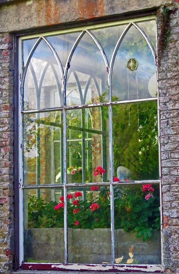 Fenêtre, château de Huntington, Co Carlow, Irlande images stock