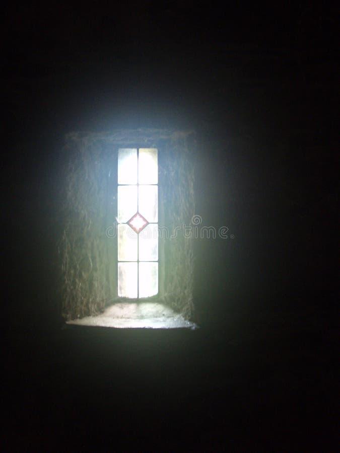 Fenêtre d'église, abbaye de Melleray de bâti, Waterford, Irlande images libres de droits