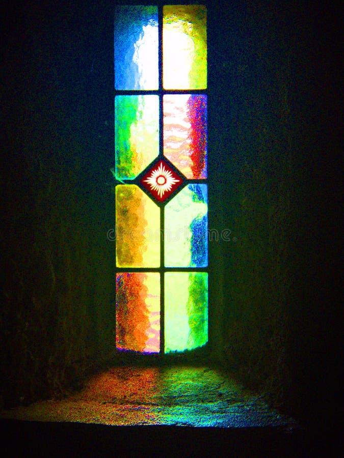 Fenêtre d'église, abbaye de Melleray de bâti, Waterford, Irlande photographie stock