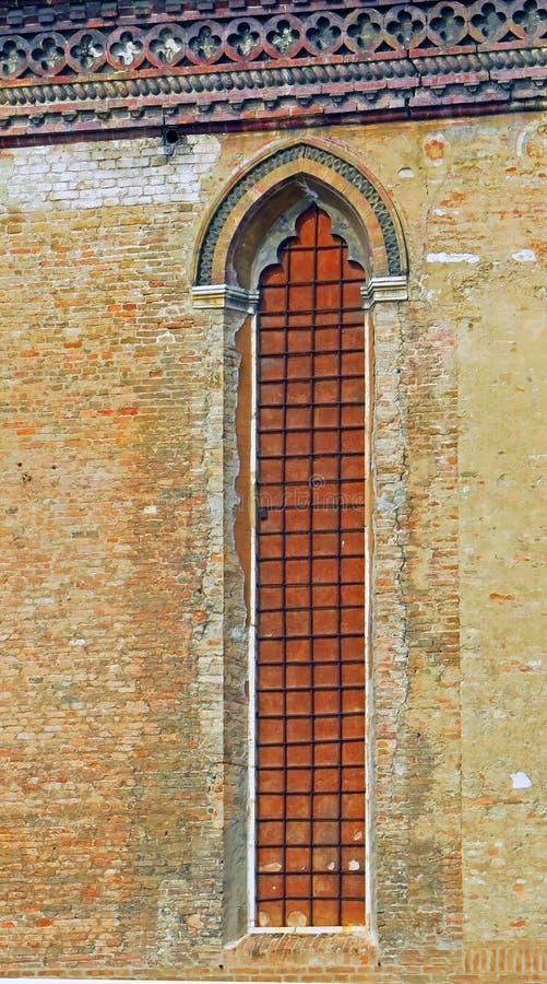 Fenêtre d'église, Venise, Italie images stock