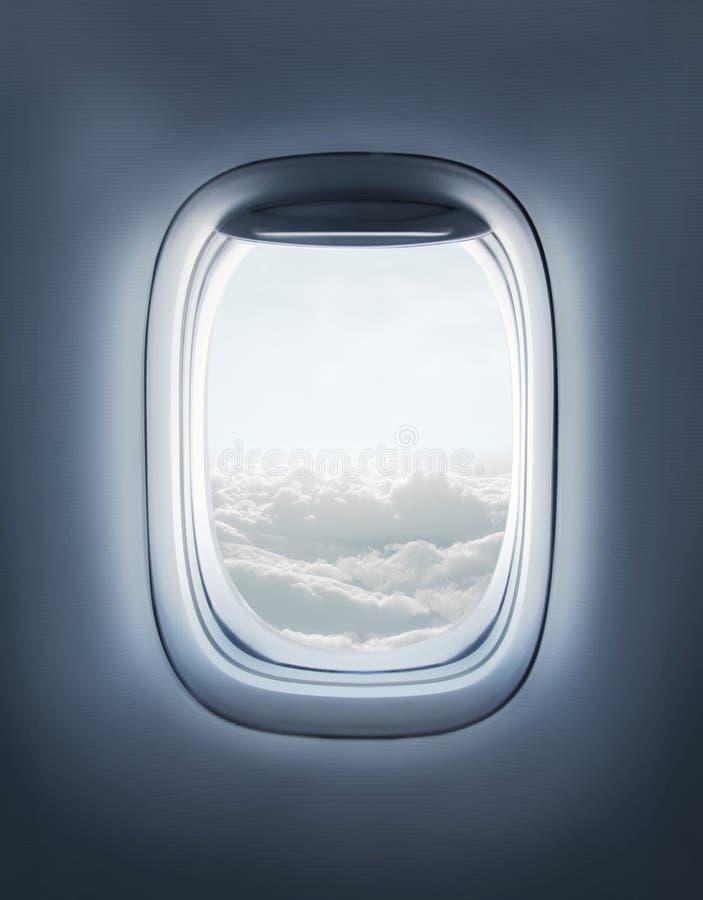 Fenêtre d'avion photo libre de droits