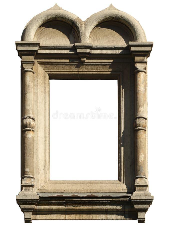 Fenêtre d'isolement avec la maçonnerie décorative dans le style Pseudo-russe et bizantin image stock