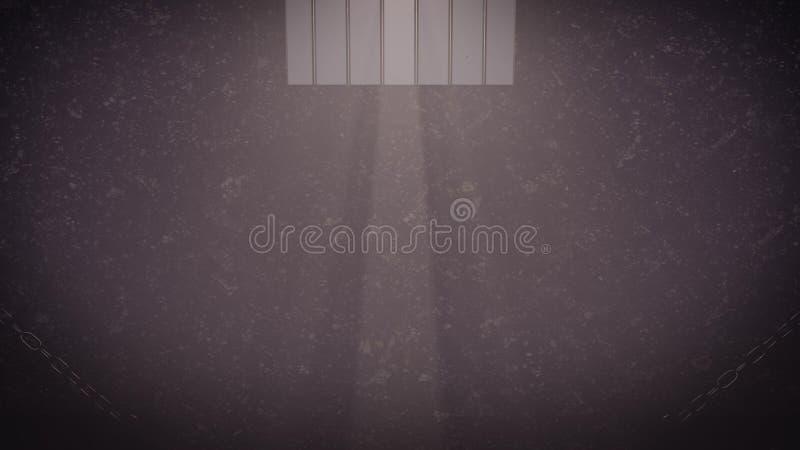 Fenêtre de cellules de prison illustration stock
