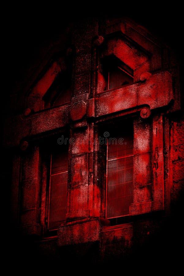 Fenêtre de Croix-Rouge images stock