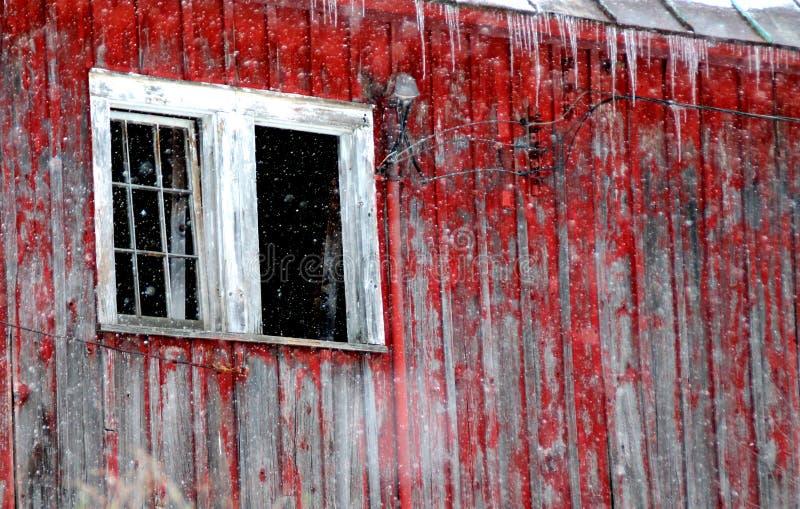 Fenêtre de grange image libre de droits
