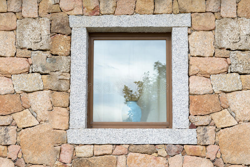 Fenêtre de pierre photos stock