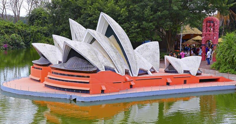 Fenêtre de Shenzhen du monde : reproduction du théatre de l'opéra de Sydney images libres de droits