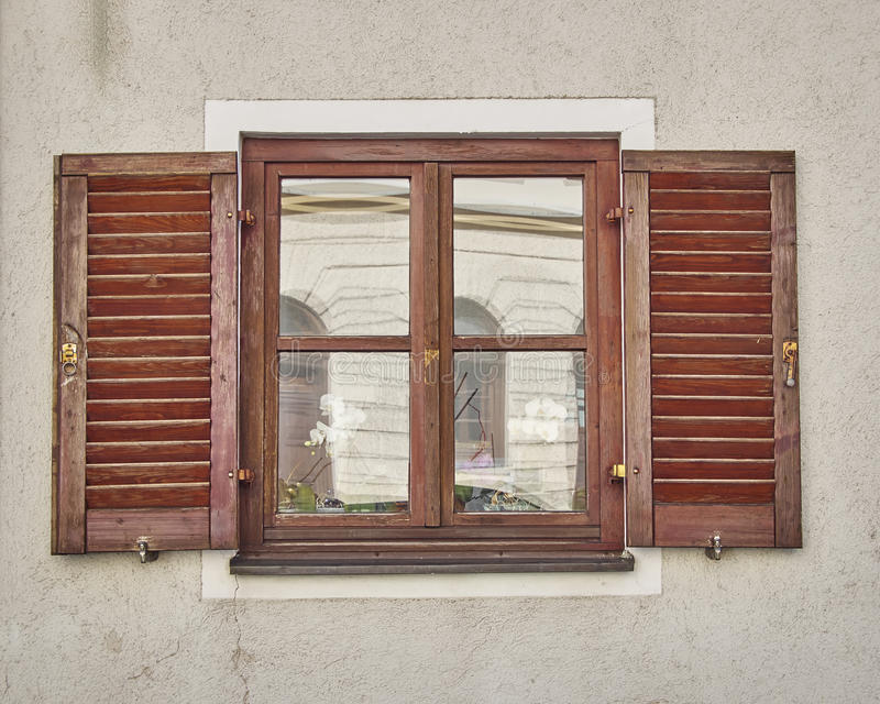 Fenêtre de vintage, Munchen, Allemagne photo stock