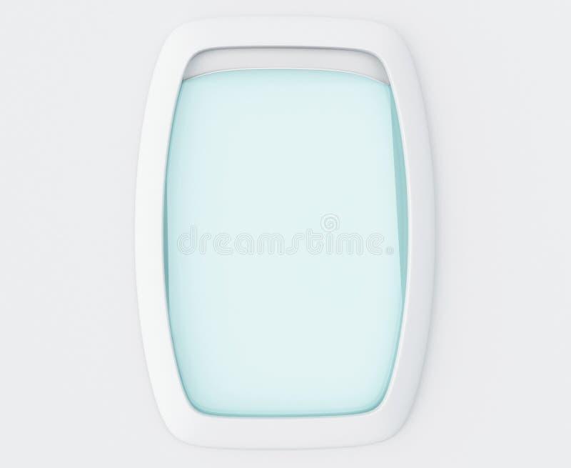 fenêtre du blanc 3d d'avion illustration stock