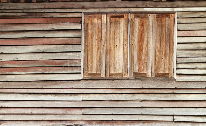 Fenêtre en bois photo stock