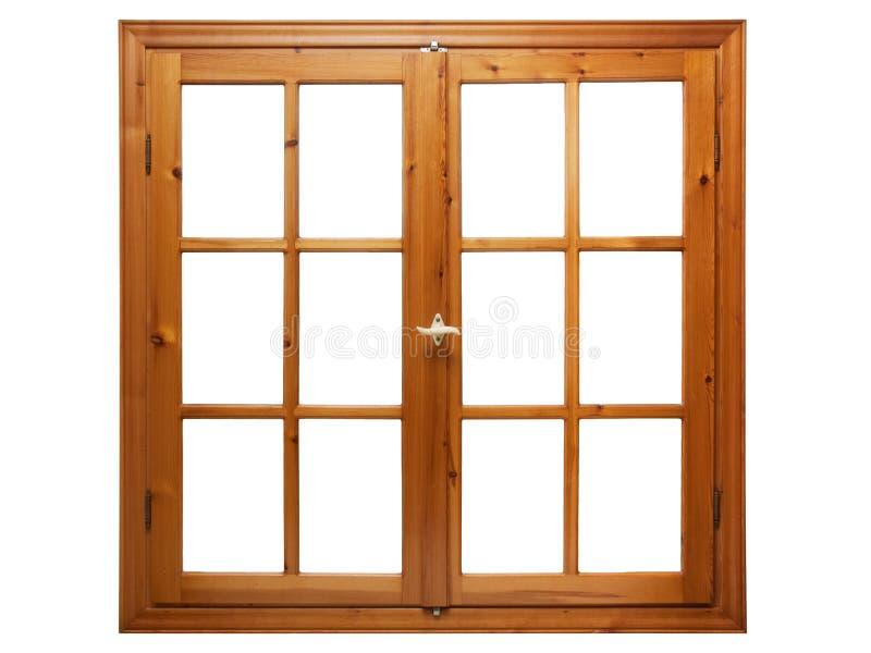 Fenêtre en bois d'isolement images libres de droits