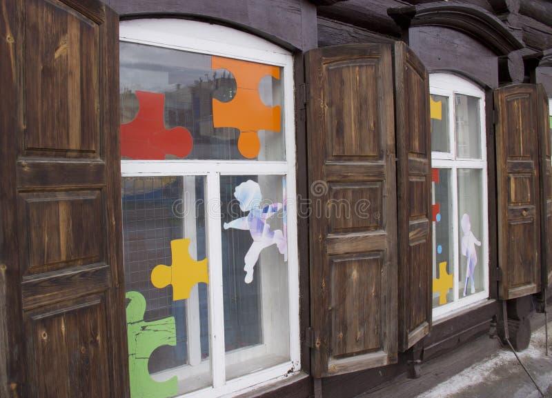 Fenêtre en bois de vintage photo libre de droits
