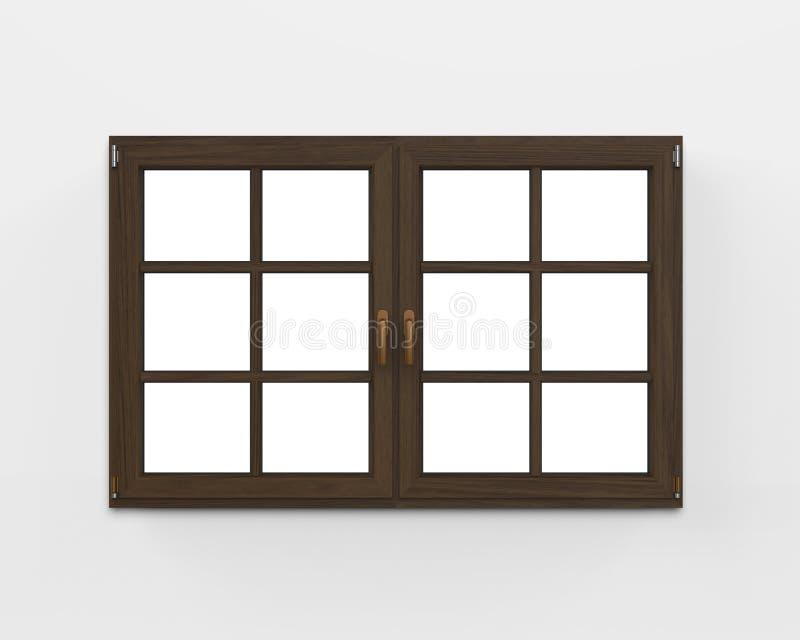 Fenêtre en bois moderne illustration de vecteur