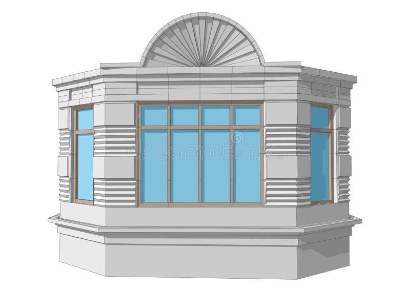 Fenêtre en saillie illustration stock