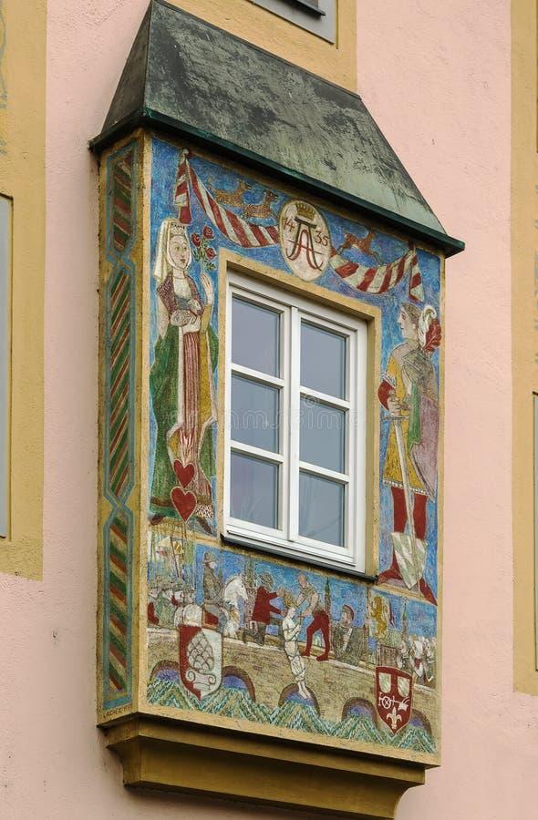 Fenêtre en saillie, Straubing image libre de droits