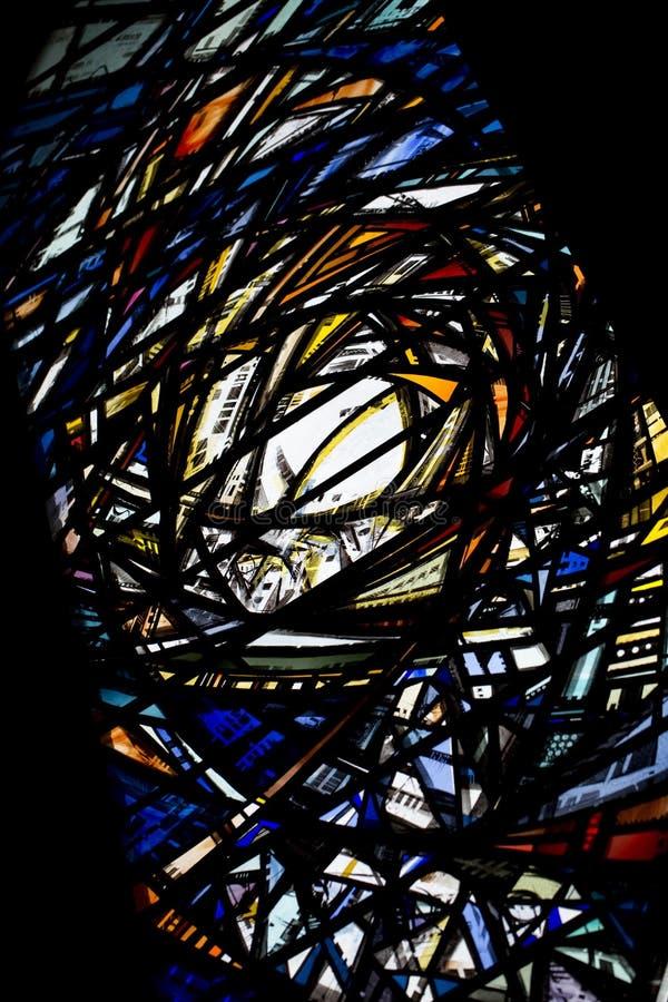 Fenêtre en verre teinté moderne dans Beverely Minster, Beverley, équitation est de Yorkshire, R-U - mars 2014 photo libre de droits