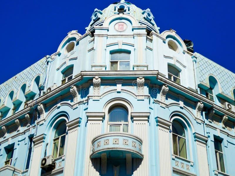 Fenêtre européenne de style d'avenue centrale de Harbin image stock
