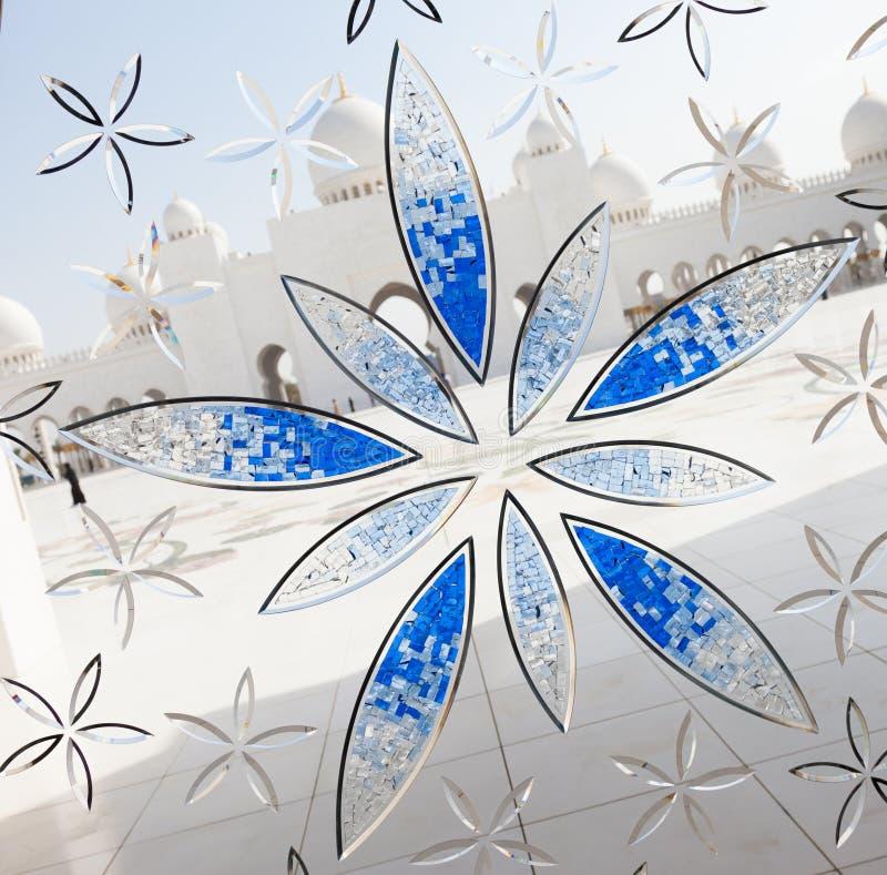 Fenêtre grande d'ornamental de mosquée photographie stock libre de droits