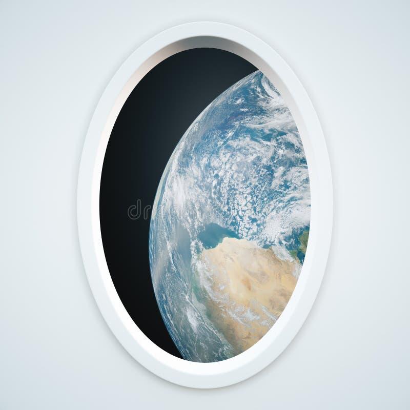 Fenêtre légère de vaisseau spatial illustration de vecteur