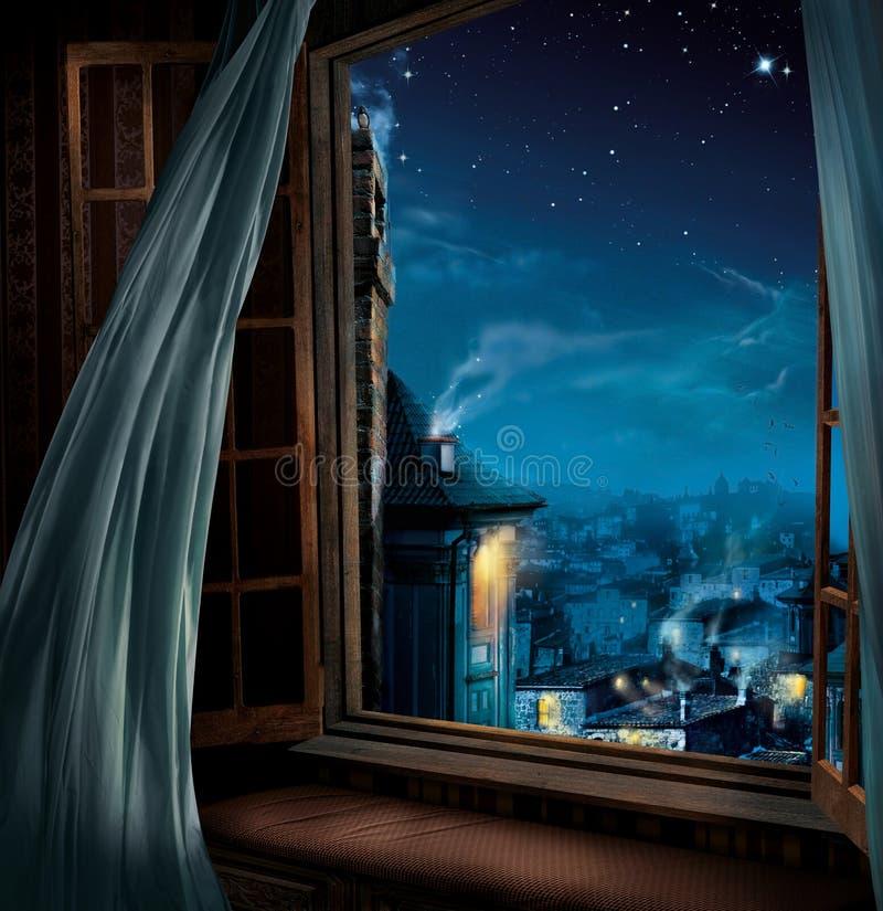 Fenêtre magique images stock