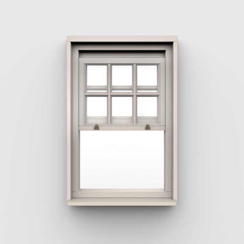 Fenêtre ouverte sur le fond blanc illustration stock