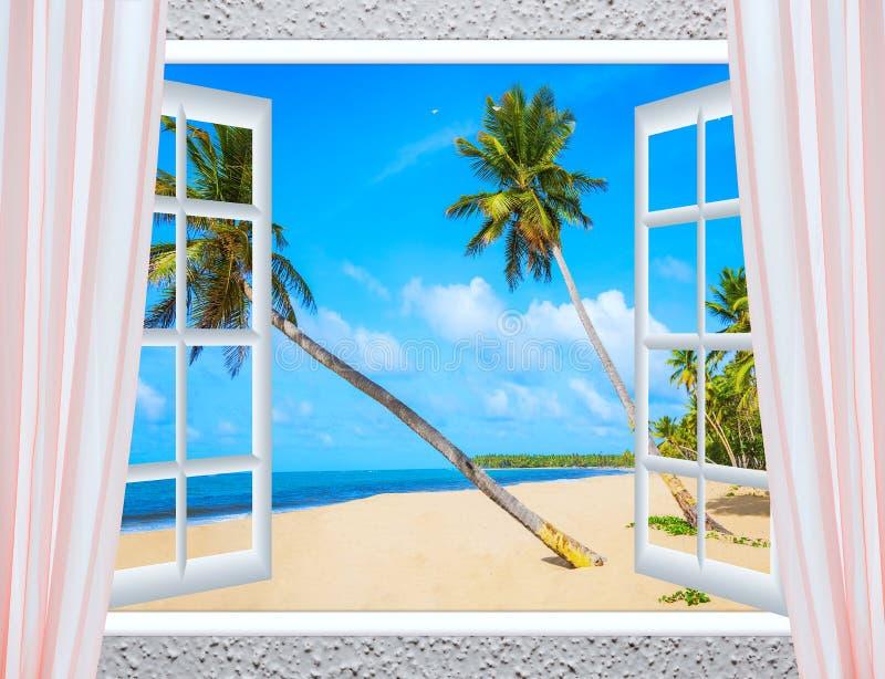 Fenêtre Ouverte Vers La Mer Photo stock - Image du vert, trame: 63992894