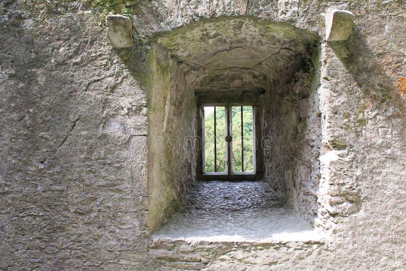 Fenêtre profonde bien dans le château photographie stock libre de droits