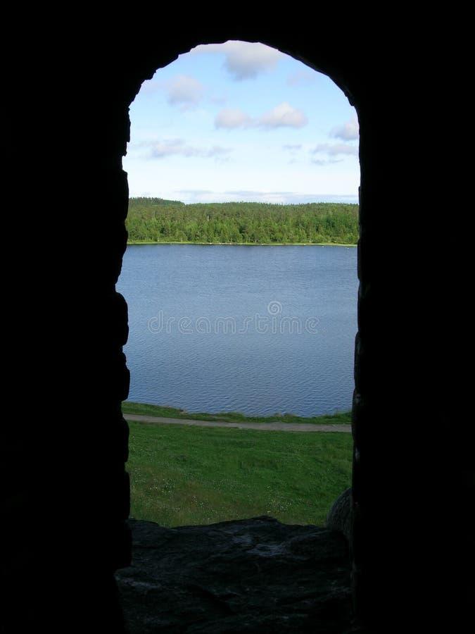 Fenêtre sur la nature photographie stock