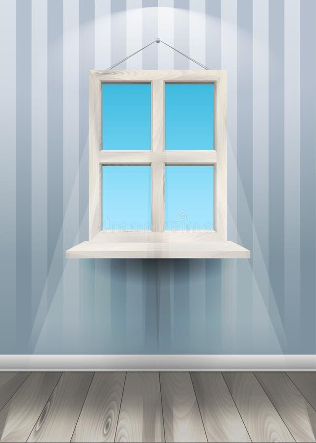 Fenêtre sur le mur Illustration de vecteur illustration stock