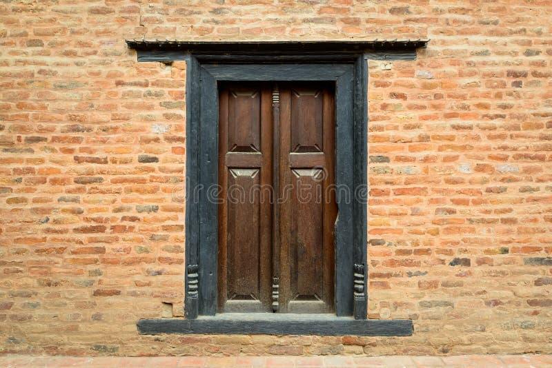 Fenêtre traditionnelle dans Patan images libres de droits