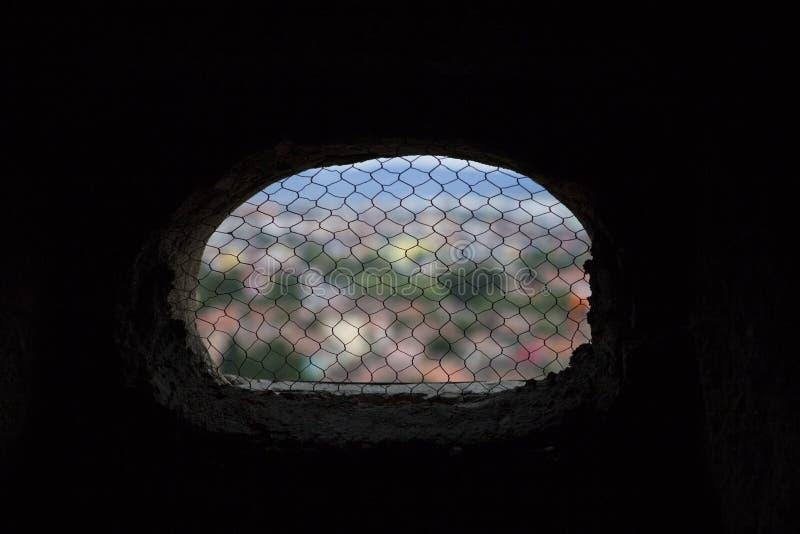Fenêtres d'isolement avec le filet images libres de droits