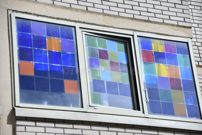 Fenêtres de couleur photographie stock
