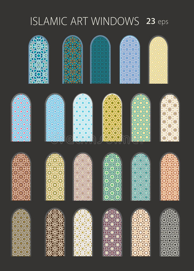 fenêtres islamiques de l'art 23vector illustration libre de droits