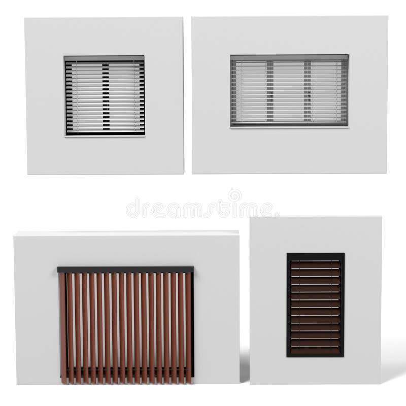 Fenêtres modernes réglées illustration de vecteur