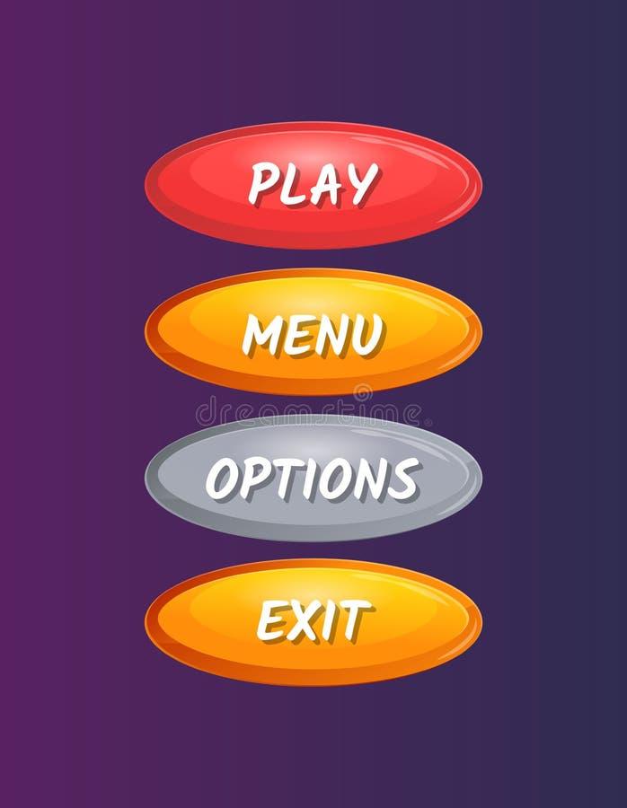 Fenêtres ovales colorées de sélection d'options illustration stock