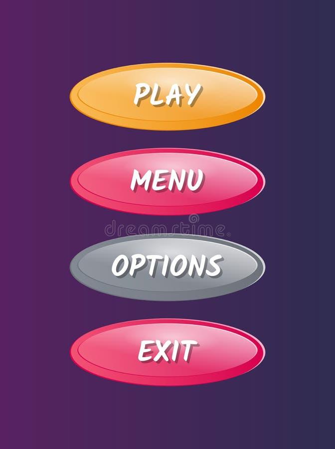 Fenêtres ovales de sélection d'options réglées illustration libre de droits