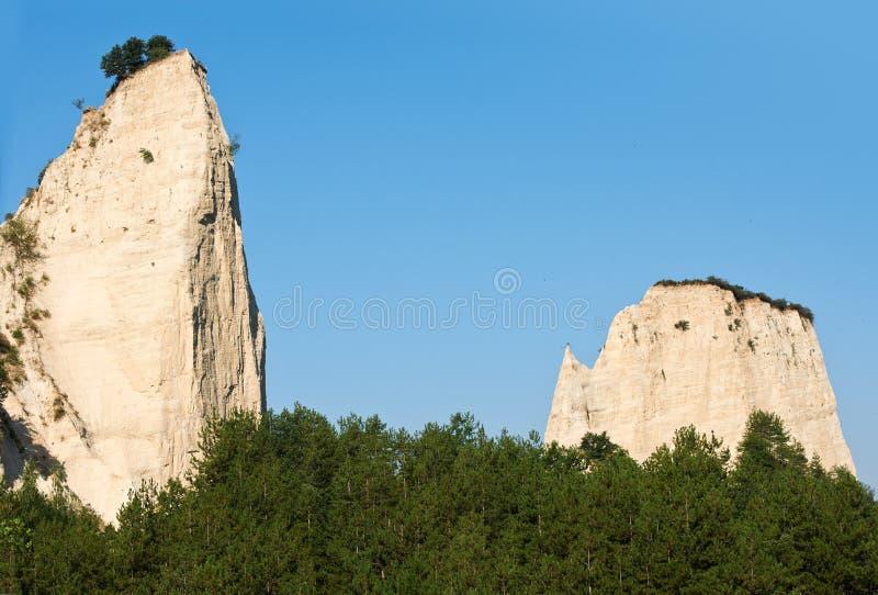 Fenómeno de piedra en Melnik, Bulgaria imagen de archivo libre de regalías