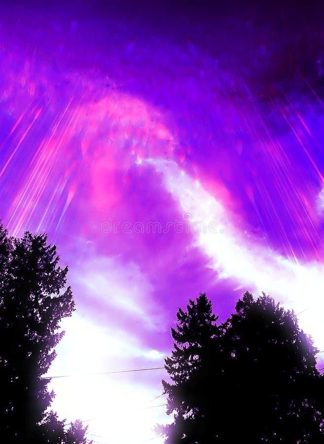 Fenômeno no céu imagens de stock royalty free