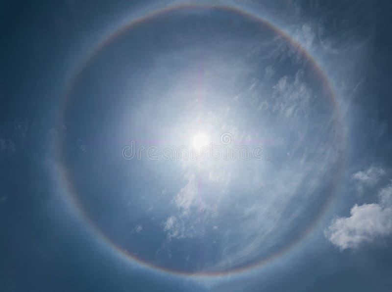 Fenômenos do halo de Sun fotografia de stock
