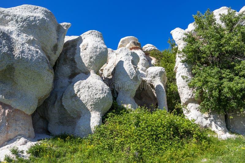 Fen?meno natural o casamento de pedra, Zimzelen, Bulg?ria fotos de stock