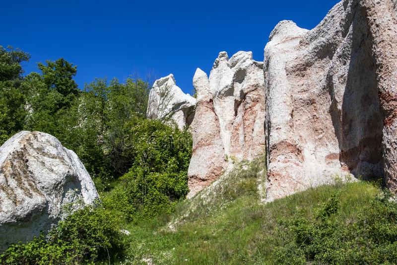 Fen?meno natural o casamento de pedra, Zimzelen, Bulg?ria foto de stock royalty free