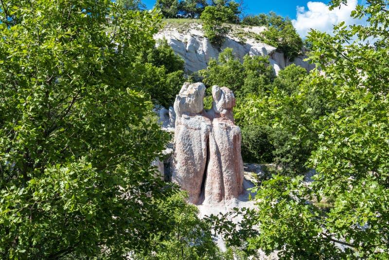Fen?meno natural o casamento de pedra, Zimzelen, Bulg?ria imagem de stock royalty free