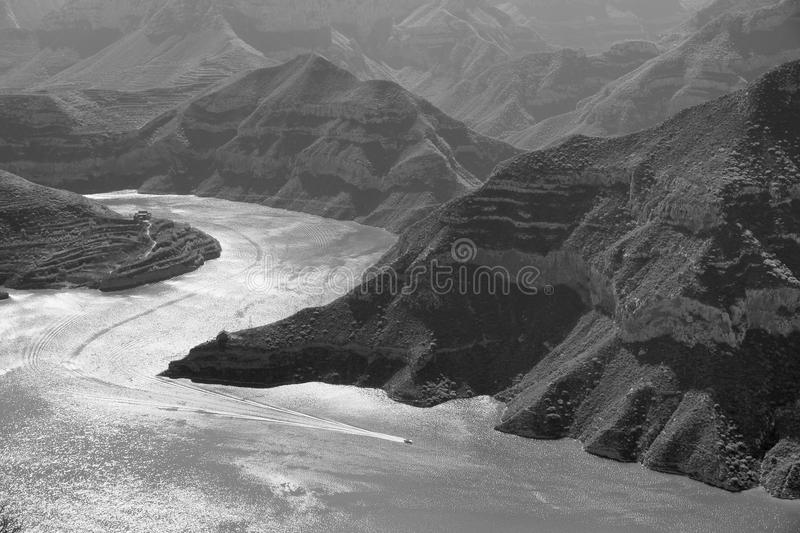 Fen River Reservoir. The landscape of Fen River Reservoir in Taiyuan, Shanxi, China royalty free stock photography