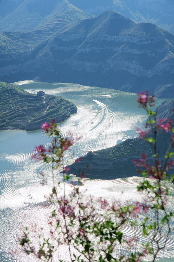 Fen River Reservoir. The landscape of Fen River Reservoir in Taiyuan, Shanxi, China stock images