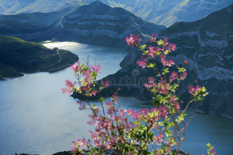 Fen River Reservoir. The landscape of Fen River Reservoir in Taiyuan, Shanxi, China stock image