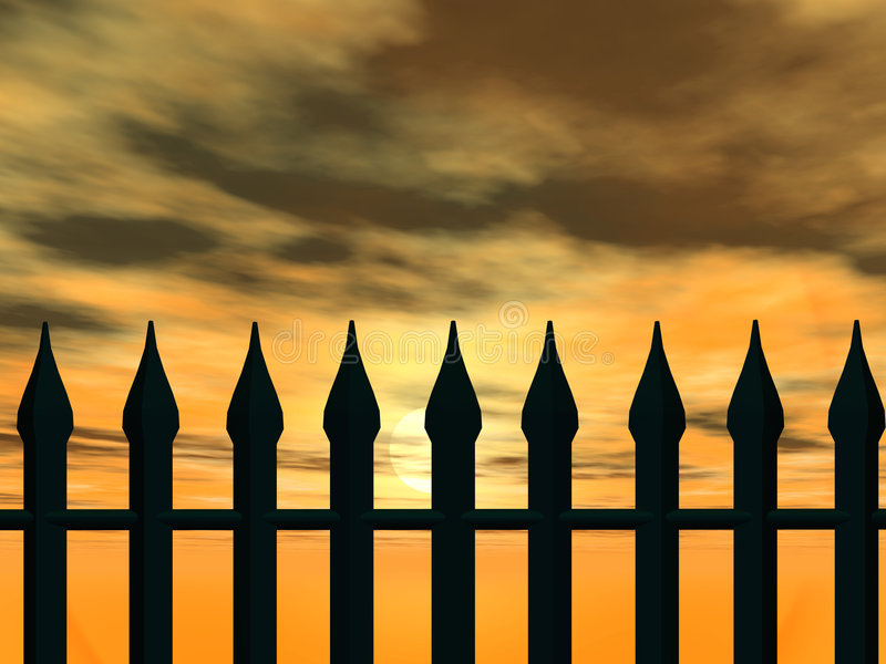 Fence royalty free illustration