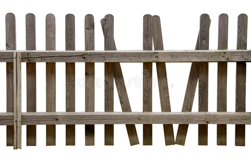 Fence. From Germany. Isolated on white royalty free stock images